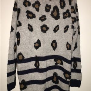 LPA Sweaters - NEW. LPA Leopard Stripe Knit Sweater